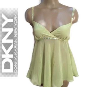 DKNY Green Camisole Tank Top 8
